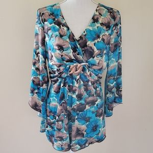 New Directions floral blouse size xl